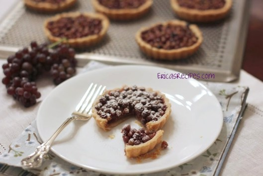 peanut butter and champagne grape tartlets