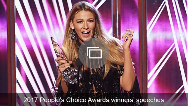 People's Choice Awards 2017 winners' speeches