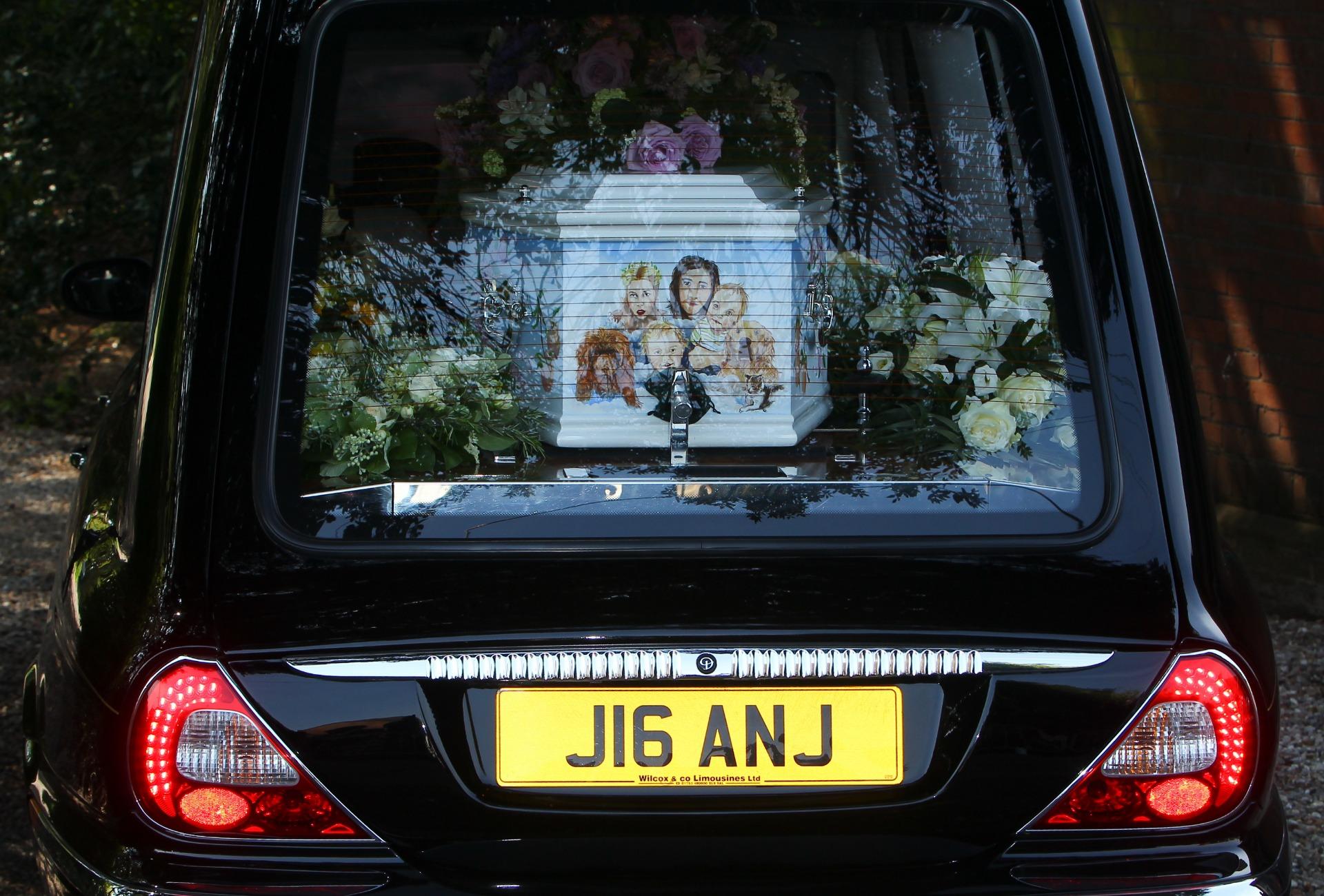 Peaches Geldof coffin