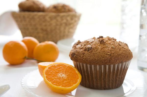 Orange pecan muffin