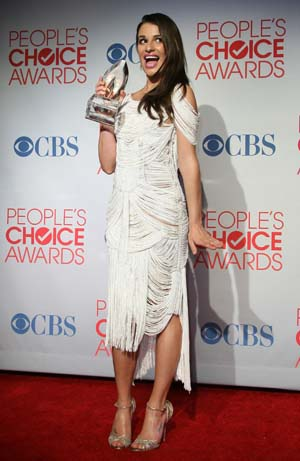 Lea Michele at the People's Choice Awards