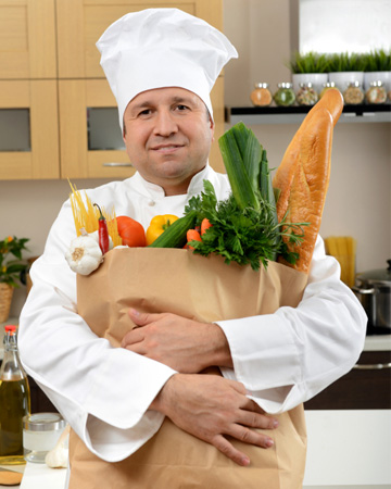 Personal chef in kitchen