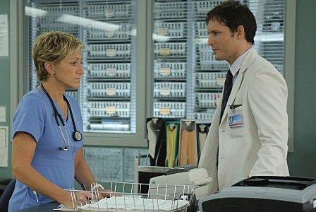 Peter Facinelli and Edie Falco on Nurse Jackie