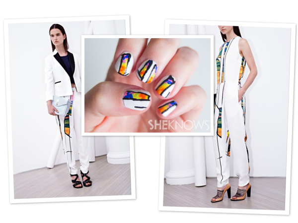 Phillip Lim-inspired nail design