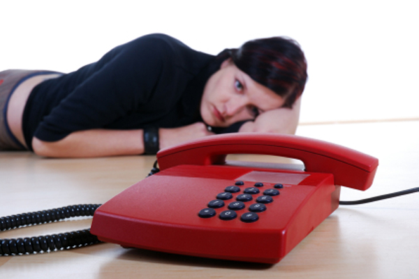 Waiting for a phone call
