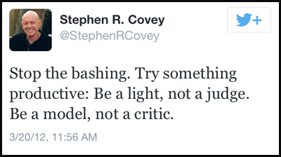 Inspirational tweet from Stephen R. Covey