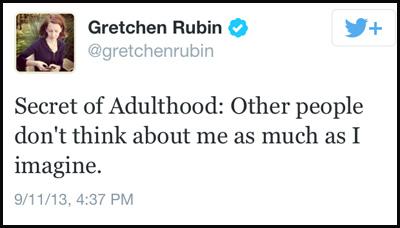 Inspirational tweet from Gretchen Rubin