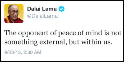 Inspirational tweet from the Dalai Lama