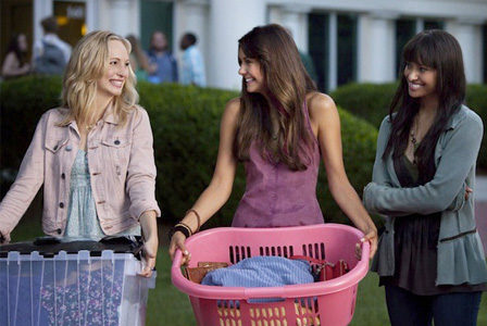 Bonnie, Elena and Caroline in the Vampire Diaries