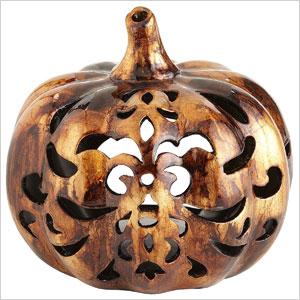 Pumpkin tea light holder