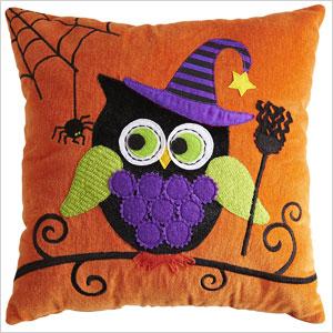 Owl Halloween pillow