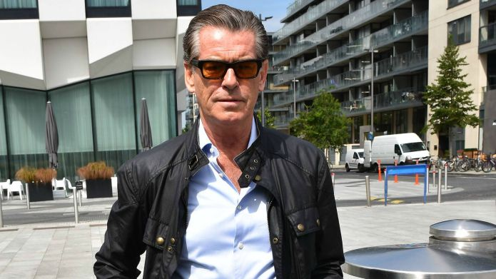 Pierce Brosnan red-faced after trying to