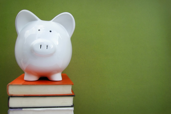 Piggy Bank and College Books