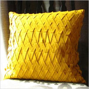 Felt basket weave pillow
