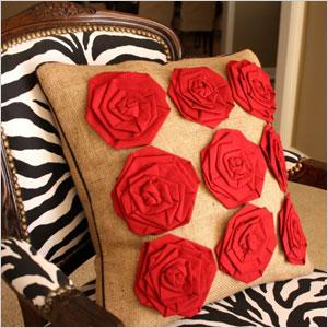 Rosettes pillow