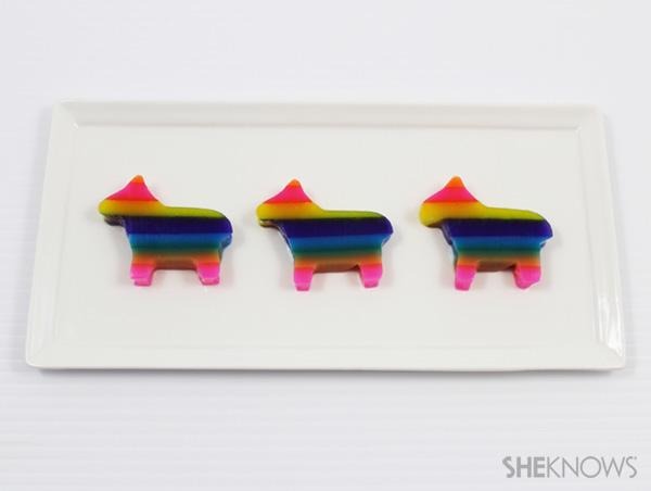 Pinata-shaped jello shots