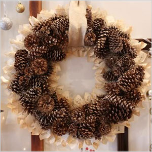 Pine cone and book page wreath | Sheknows.ca