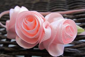 pink flower baby hairpins