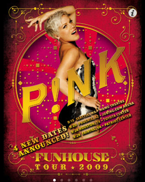 Pink tours live