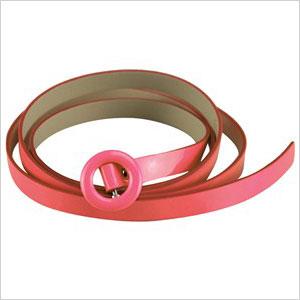 Pink patent belt