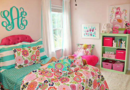 Pink And Teal All Over