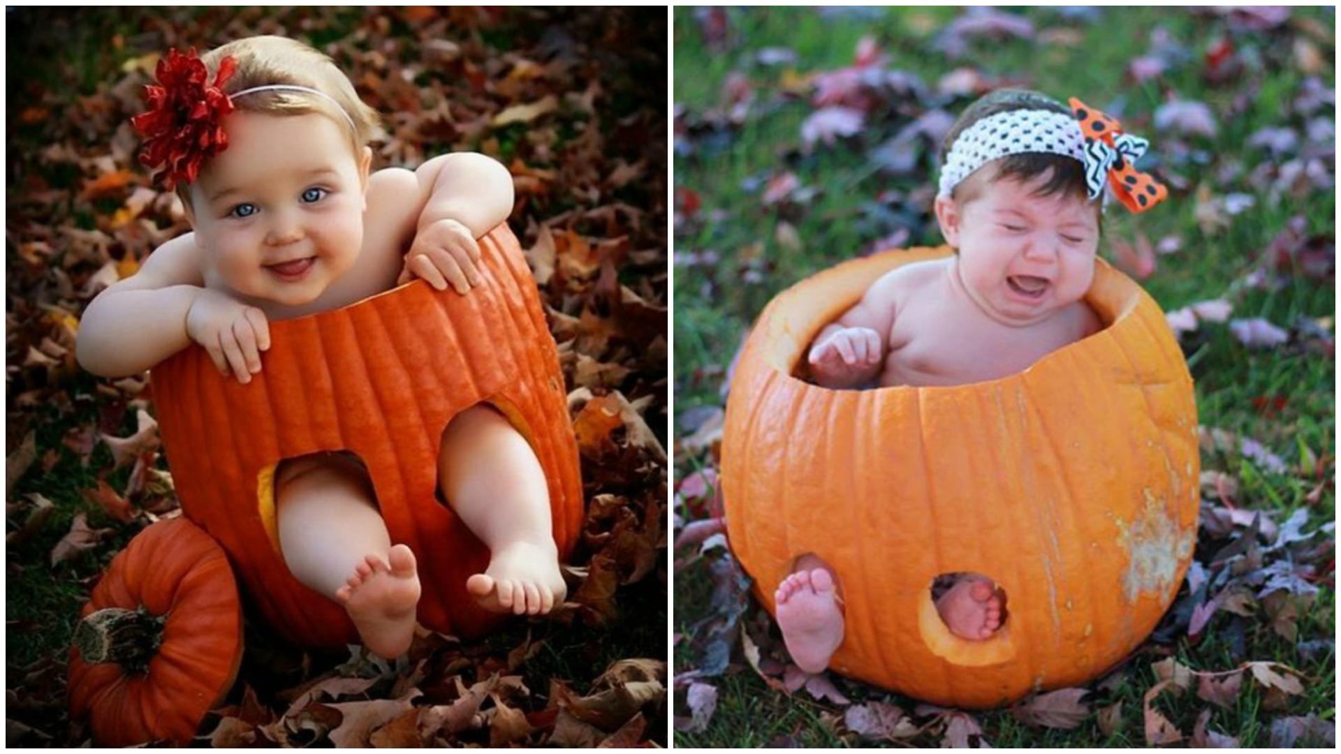Pinterest fail baby pumpkin