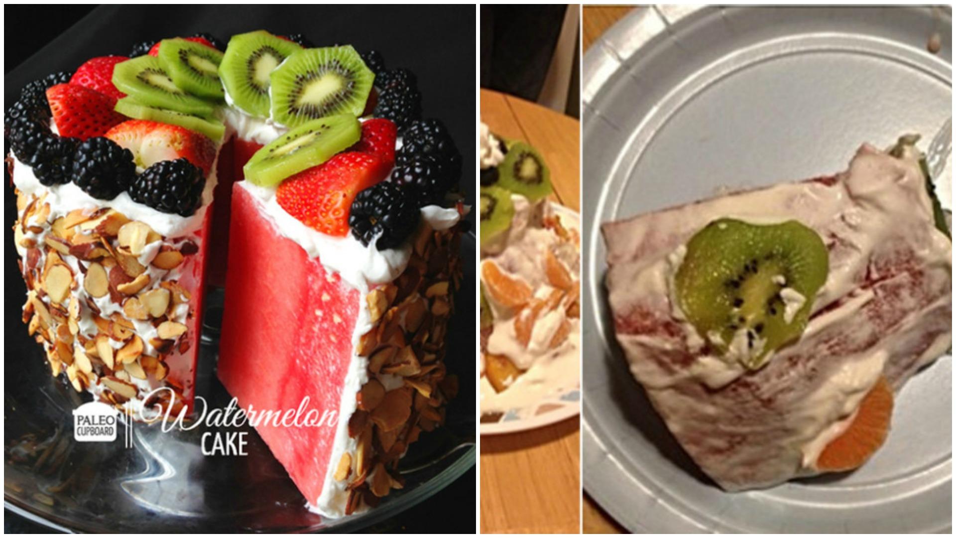 Pinterest fail watermelon cake