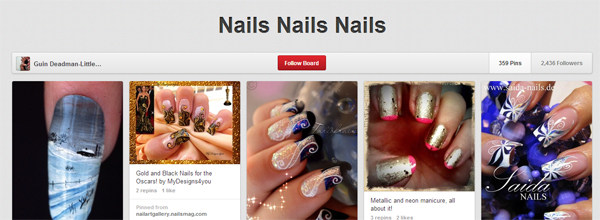 Must-follow nail boards
