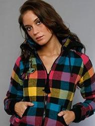 girl wearing plaid shirt