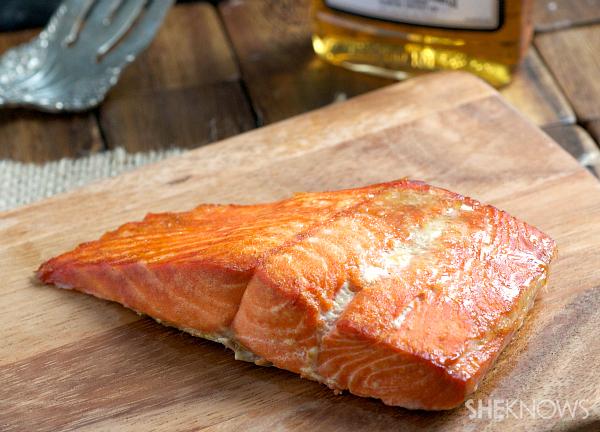 Brown butter & bourbon salmon