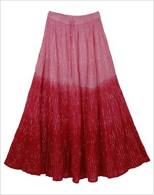 Pretty Ombre Flowy Pink Skirt