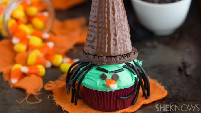 Triple chocolate witch cupcakes are fun