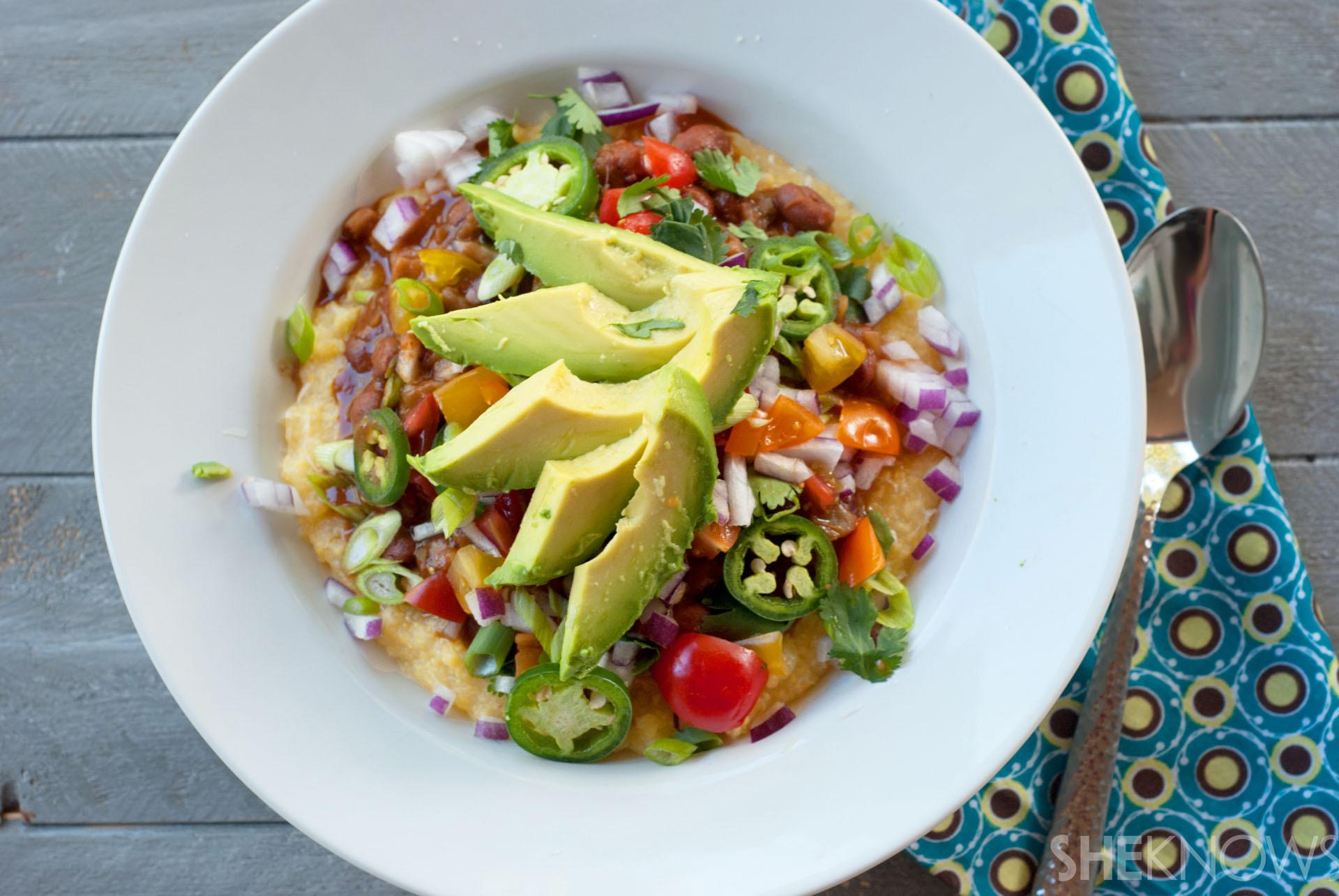 Creamy Mexican polenta bowls recipe
