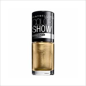 Holographic gold nail polish