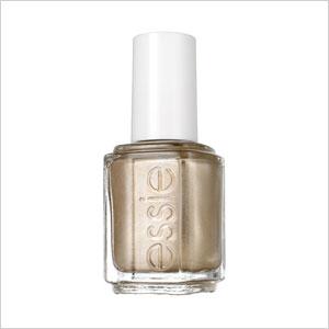 Solid gold nail polish