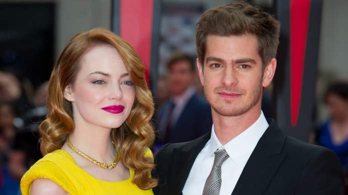 Emma Stone and Andrew Garfield giving