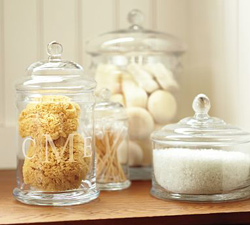 Classic Glass Containers from Pottery Barn