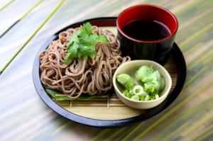 Sesame soba noodles with green onions