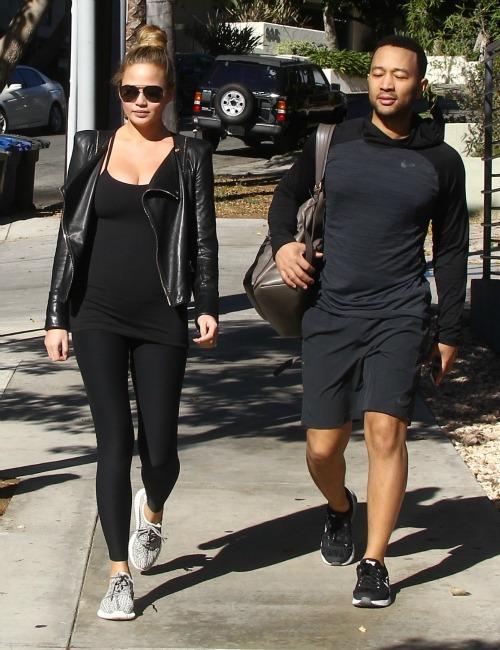 Pregnant Chrissy Teigen and John Legend