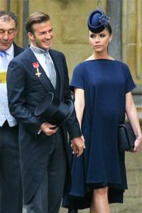 Pregnant Victoria Beckham and David Beckham