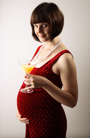 Pregnant Woman with Cocktail