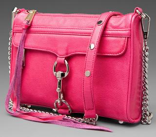 Ultra-pink purse -- pink Rebecca Minkoff leather purse