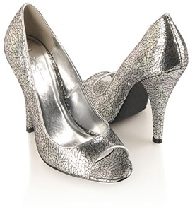 Crackled Metallic Heels from Forever 21