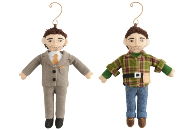 The Property Brothers ornaments.