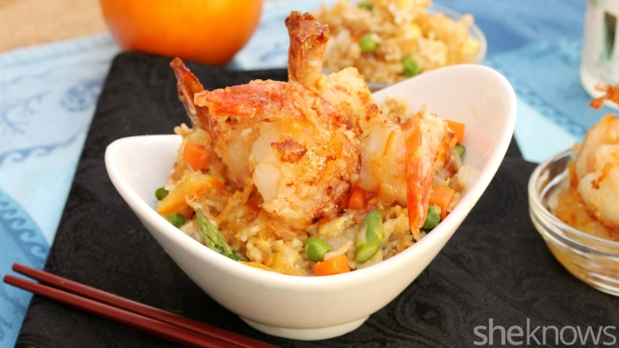 One-Pot Wonder: Orange shrimp with fried