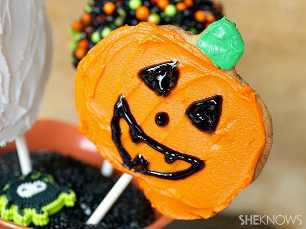 3 Halloween cookie pops