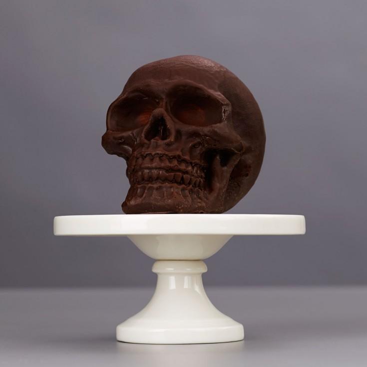 Pure dark chocolate skull