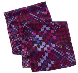 Purple houndstooth scarf