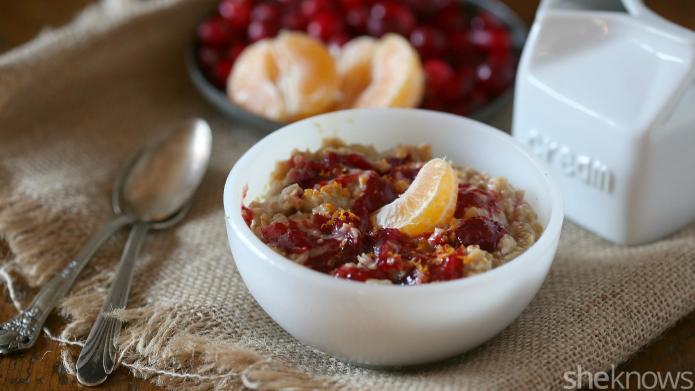 Cranberry-orange porridge to enjoy on winter