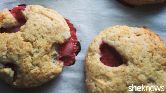 Strawberry scones so delicious the Queen